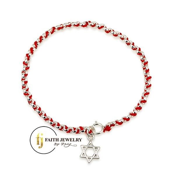 Sterling Silver 925 Rhodium 7 Inch Chain Faith Jewelry Holy Land Redrope Bracelet