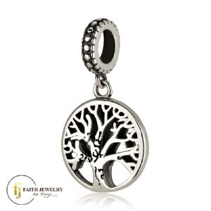 Tree of life jewelry silver charm
